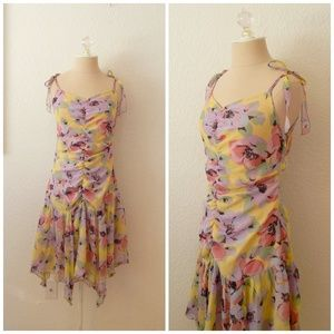Vintage 90s Betsey Johnson Silk Spring Dress